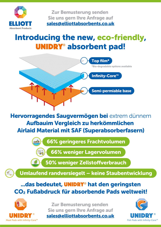 Hervorragendes Saugvermögen bei extrem dünnemAufbauim Vergleich zu herkömmlichen Airlaid Material mit SAF (Superabsorberfasern)